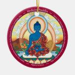 ORNAMENT CERAMIC - Medicine Buddha + Close Up