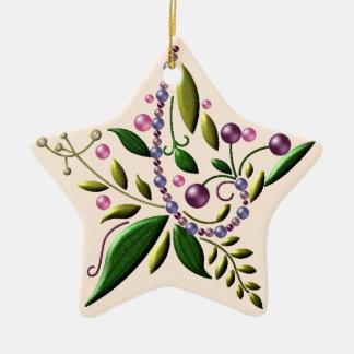Ornament - Ceramic - Tuscan Star of Christmas