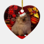 Ornament Christmas Cat With Santa Hat Christmas Ornaments