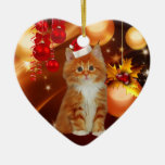 Ornament Christmas Cat With Santa Hat Christmas Tree Ornaments
