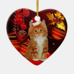 Ornament Christmas Cat With Santa Hat Christmas Ornament