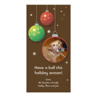 Ornament Christmas holiday custom greeting card