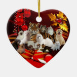 Ornament Christmas Tiger Cats Dogs Christmas Ornaments
