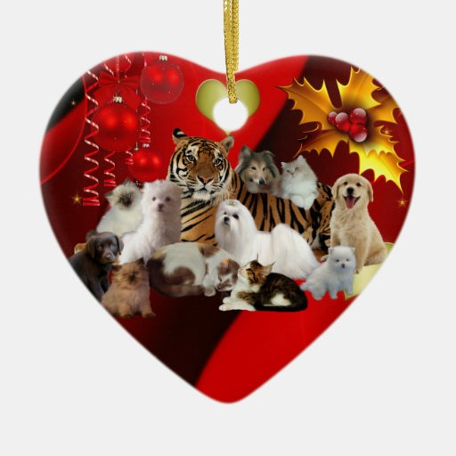 Ornament Christmas Tiger Cats Dogs Christmas Tree Ornament