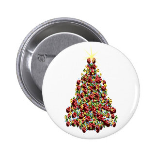Ornament Christmas Tree Button