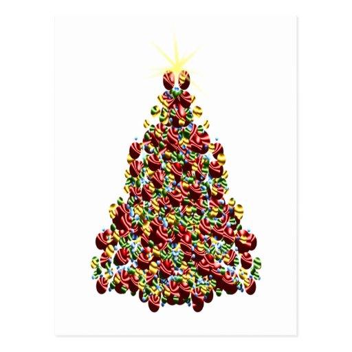 Ornament Christmas Tree Postcards
