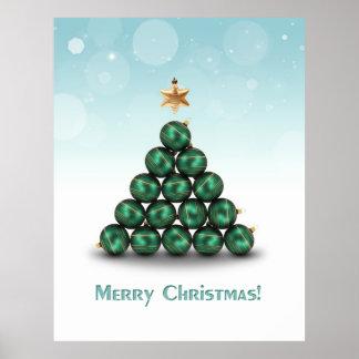 Ornament Christmas Tree - Poster