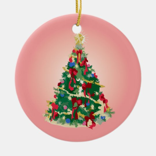 Ornament: Colorful Christmas Tree Ceramic Ornament
