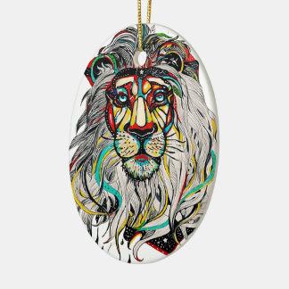 "Ornament ""Colorfull Lion """