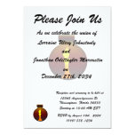 Ornament Dark Sunset with yellow candle graphic Custom Invites