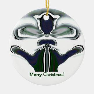 Ornament del gato de las Felices Navidad de rey Adorno Navideño Redondo De Cerámica