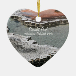 Ornament: Doublet Pool Mineral Deposits #1 (Heart) Ceramic Ornament