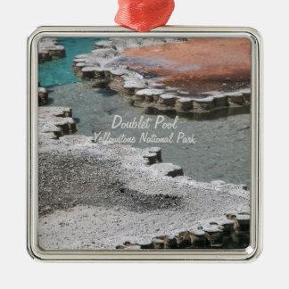 Ornament: Doublet Pool Mineral Deposits #1 (Sqr) Metal Ornament
