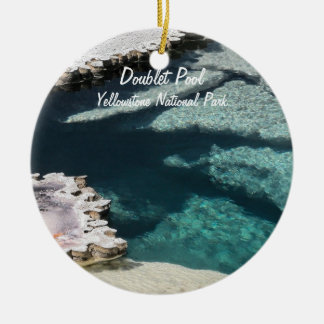 Ornament:  Doublet Pool Mineral Deposits #2 (Crk) Ceramic Ornament