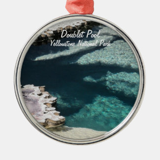 Ornament:  Doublet Pool Mineral Deposits #2 (Rnd) Metal Ornament