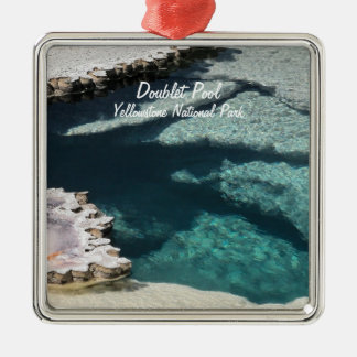 Ornament:  Doublet Pool Mineral Deposits #2 (Sqr) Metal Ornament