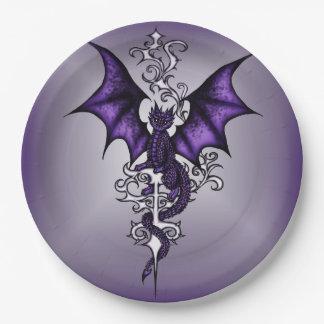 Ornament Dragon Paper Plate