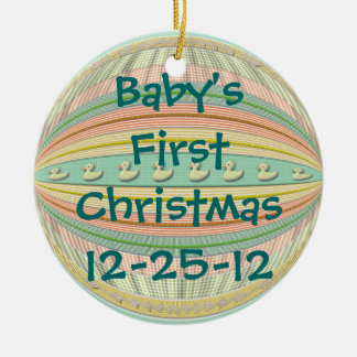 "Ornament - Ducks in a Row - ""Baby's 1st Christmas"""