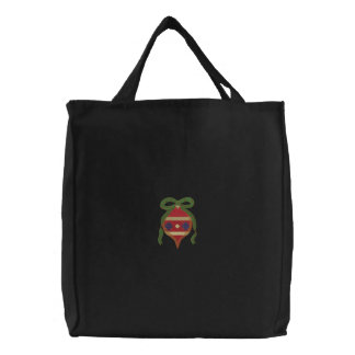 Ornament Embroidered Tote Bag