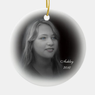 Ornament fade portrait with Christmas wreath back