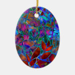 Ornament Floral Abstract Stained Glass