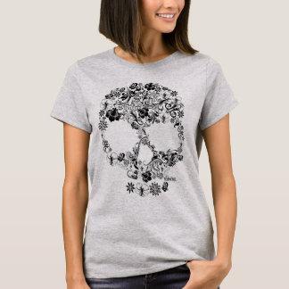 Ornament Flower Skull T-Shirt