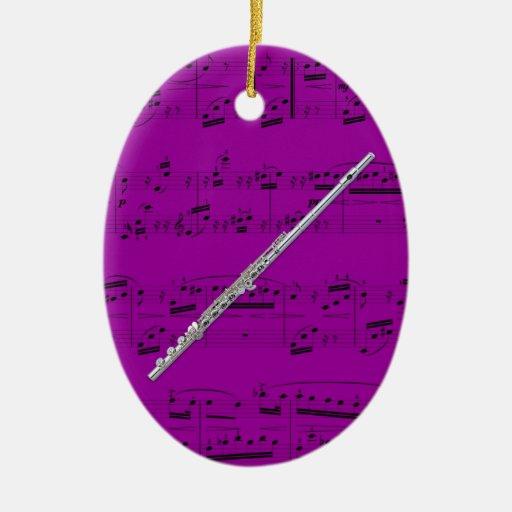 Ornament - Flute - Pick your color