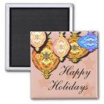 ornament, Happy, Holidays Fridge Magnets