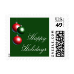 Ornament Happy Holidays Stamp on Evergreen
