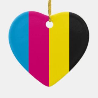 Ornament Heart CMYK stripes