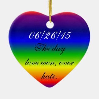 Ornament - Heart - Prismatic Rainbow