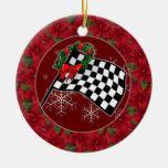 Ornament - Holiday Racing Flag