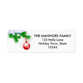 Ornament | Holiday Return Address Labels