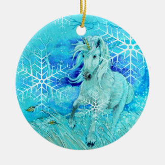 Ornament - Holiday Winter Unicorn