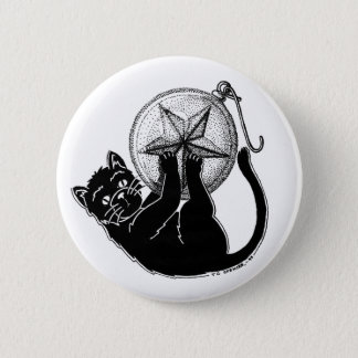 Ornament Kitty Pinback Button