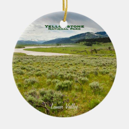 Ornament: Lamar Valley (Round) Ceramic Ornament