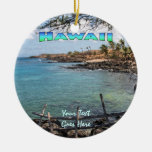 Ornament: Lapakahi #3 (Circle) Double-Sided Ceramic Round Christmas Ornament