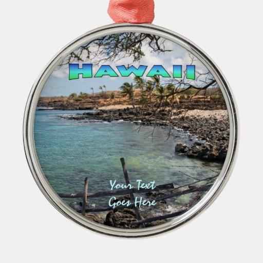 Ornament: Lapakahi #3 (Premium Round) Round Metal Christmas Ornament