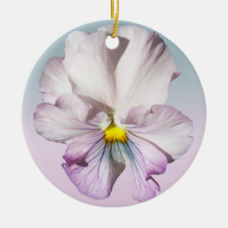 Ornament - Left-Facing Ruffled Lavender Pansy