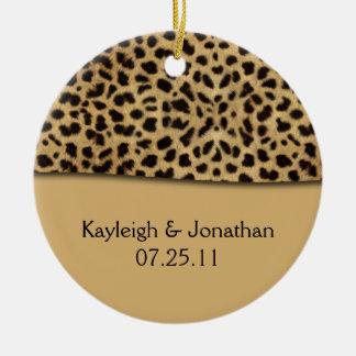 Ornament Leopard Print Wedding Date Keepsake