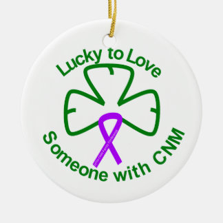 Ornament-Lucky to Love Someone with CNM Ceramic Ornament