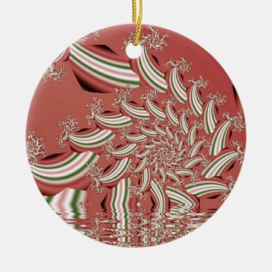 Ornament- Melting Peppermint Ceramic Ornament