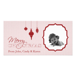 Ornament Merry Christmas Photo Card