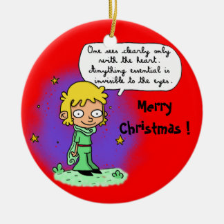 "ornament ""Merry Christmas"" ""the little Prince"""