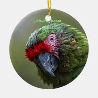Ornament: Military Macaw (Circle) Ceramic Ornament