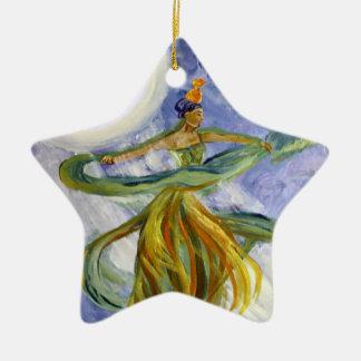 Ornament, Moonlight Majesty Fantasy Art Ceramic Ornament