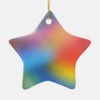"""Ornament, """"MULTI-COLORED STAR"""" Ceramic Ornament"""