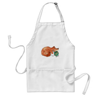 Ornament Nap for Kitty Adult Apron
