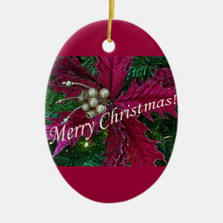 Ornament:  Necklace Christmas Holiday Seasonal Art Ceramic Ornament
