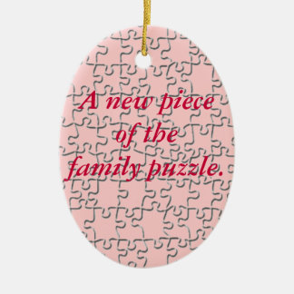 Ornament - New piece of the family puzzle (pink)